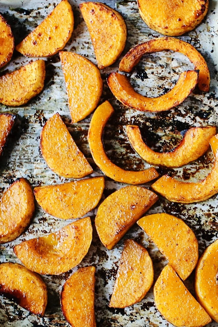 This healthy, sweet and savoury Maple Five Spice Roasted Butternut Squash is the perfect side dish recipe if you love fall flavours!