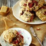 Whole Wheat Oatmeal Raspberry Scones