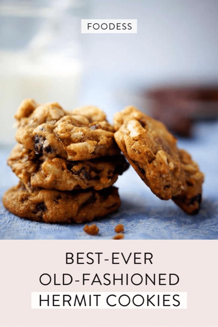 hermit cookies stacked up