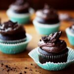 Moist Chocolate Cupcakes with Oreo Cream Cheese Frosting