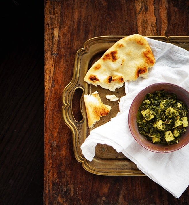 Saag Paneer Spinach Curry Recipe Www Foodess Com