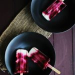 Blackberry Swirl Frozen Yogurt Pops