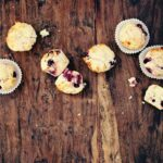 Sour Cherry Lemon Muffins