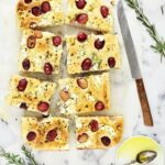 Goat Cheese, Red Grape and Rosemary Focaccia