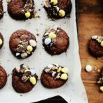 Easter Egg Brownie Cookies + Hershey's Eggies Vs. Cadbury Mini Eggs