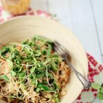 Soba & cabbage noodle salad with spicy peanut sauce