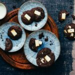 Chewy Dark Chocolate Cookies with White Chocolate Chunks