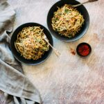 Spinach Gomae Noodles with Sesame Sauce