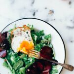 Fried Egg Breakfast Salad with Mustard Vinaigrette