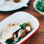 Crispy Falafel with Lemon-Tahini Sauce