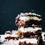 Chocolate Mint Brownies with Peppermint Frosting and Chocolate Ganache
