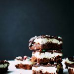 Fudgy Mint Brownies with Peppermint Frosting and Chocolate Ganache