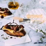 Roasted Grape & Camembert Crostini