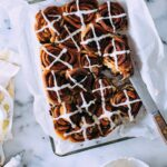 Speedy Hot Cross Cinnamon Rolls