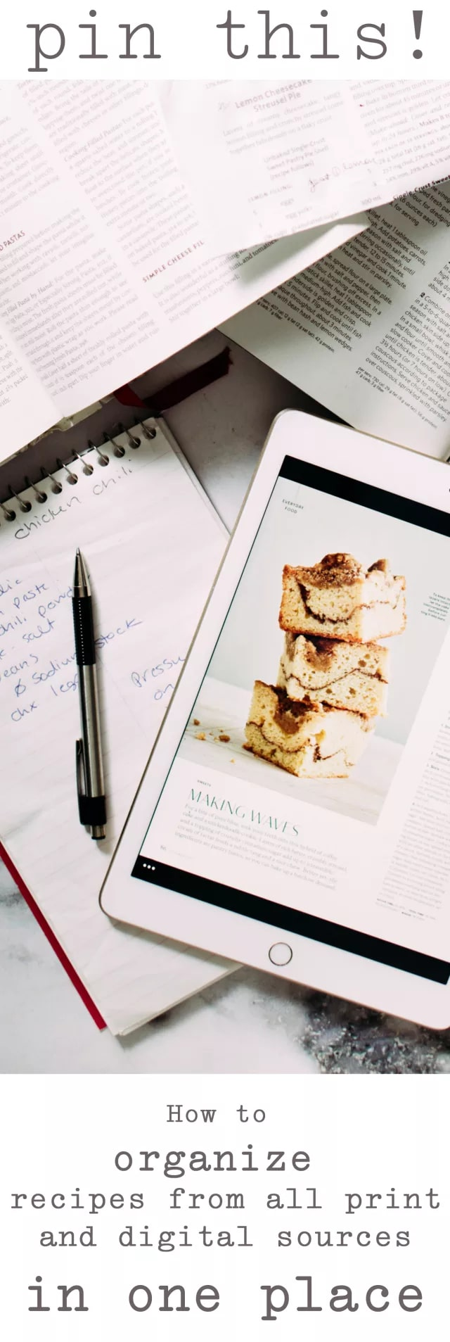 The absolute best way to organize your recipes from ALL