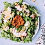 Vegetarian Taco Salad with Lime Crema