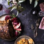 Herb-Crusted Rib Roast with with Crispy Smashed Potatoes