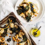 Spice-Roasted Cauliflower, Kale & Chickpea Salad with Yogurt