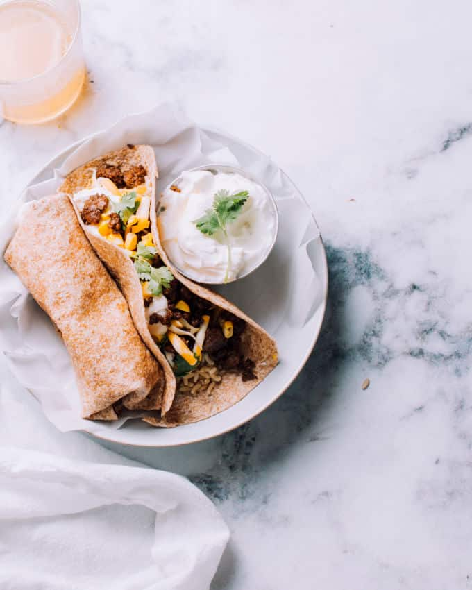 Ground Beef Rice Cheese Freezer Burritos Recipe Foodess Com