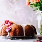 an orange pound cake with orange glaze