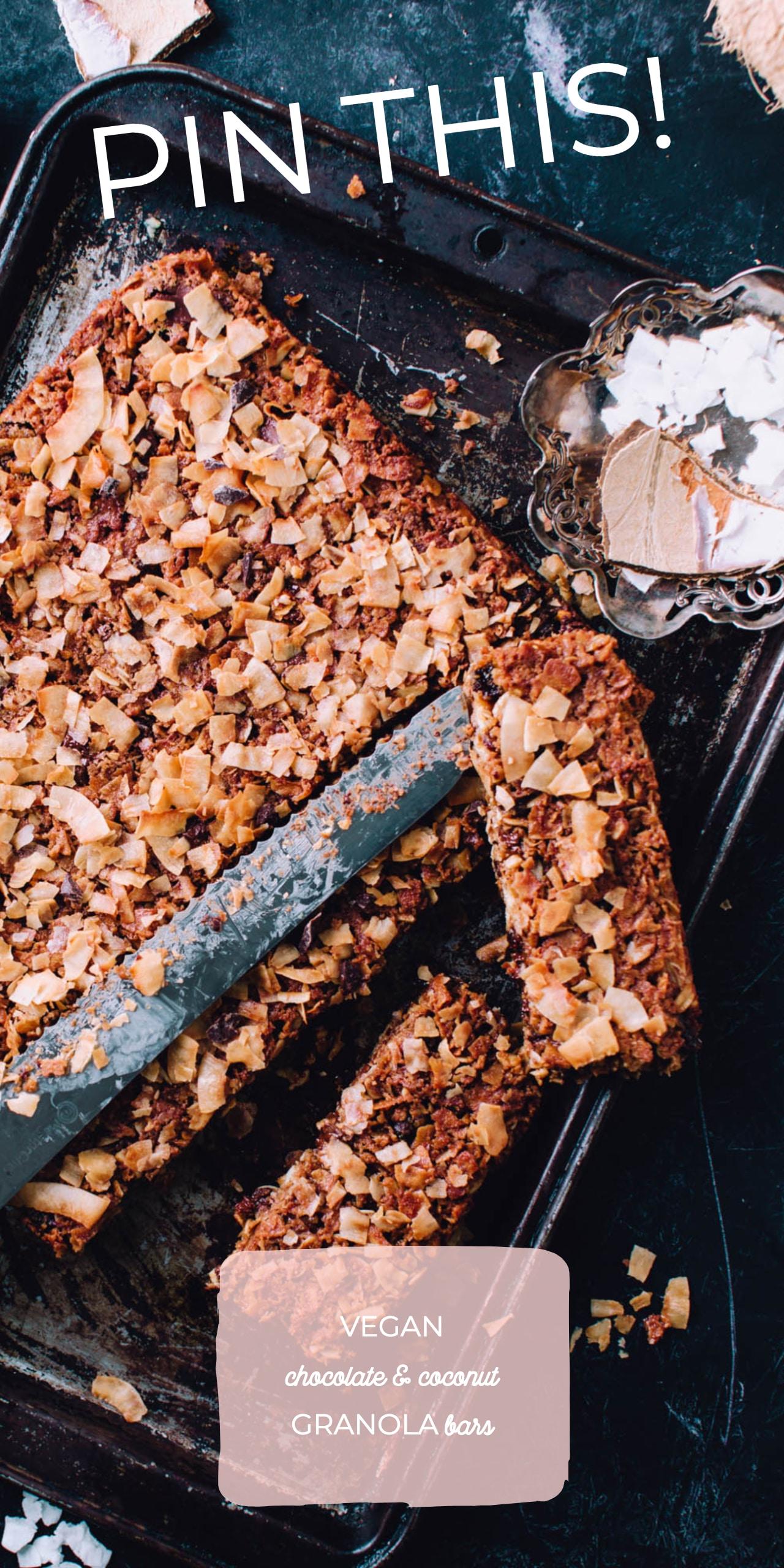 Chocolate & Coconut Granola Bar Recipe | Foodess