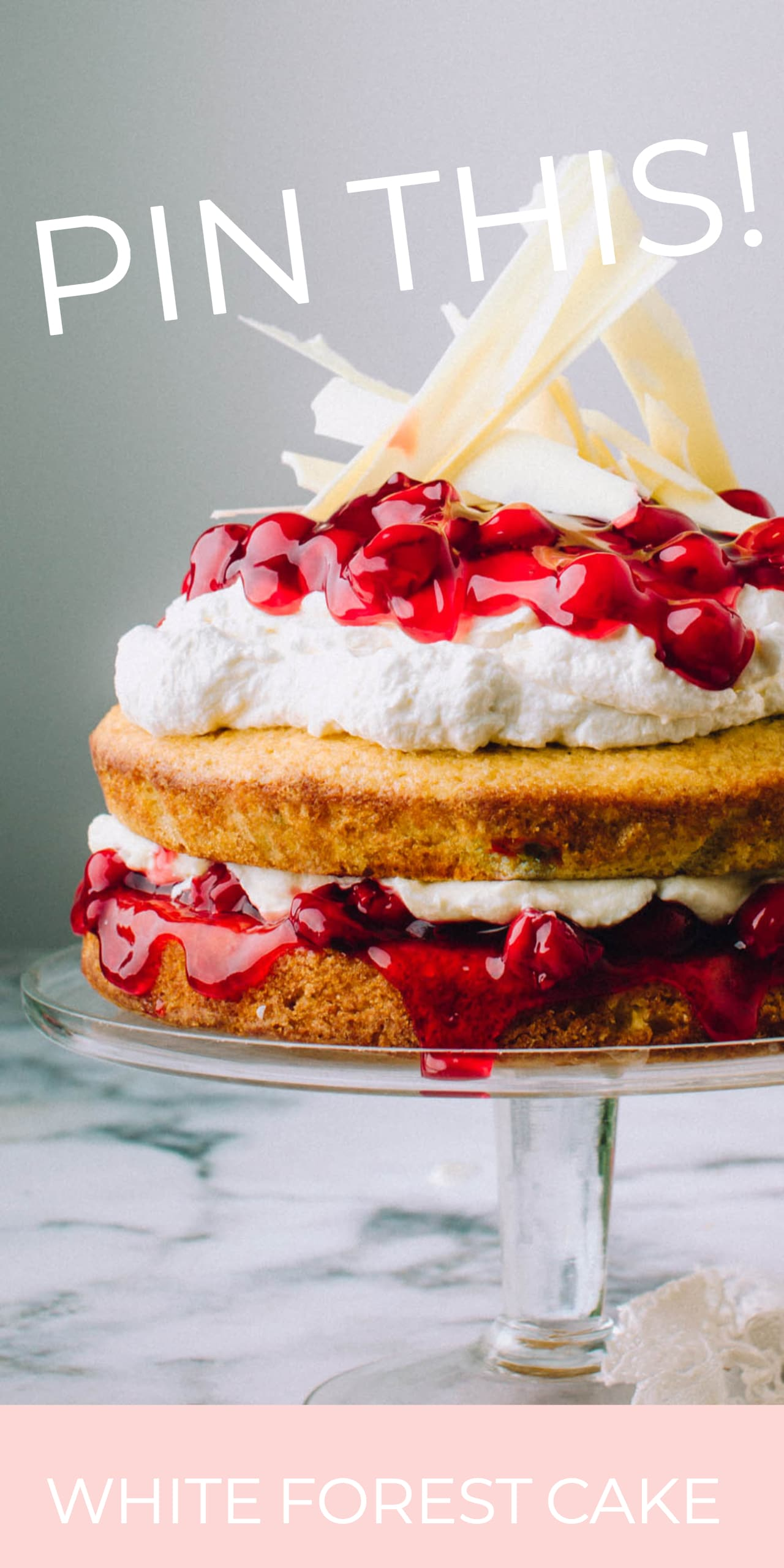 White Forest Cake Recipe | Foodess