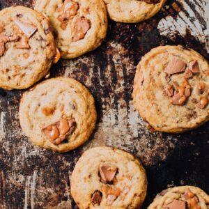 Toffee & Milk Chocolate Chip Cookies