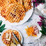 Ham & Cheese Buttermilk Waffles