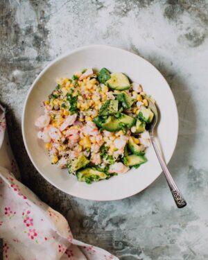 Shrimp Ceviche Recipe with Corn and Avocado | Foodess.com