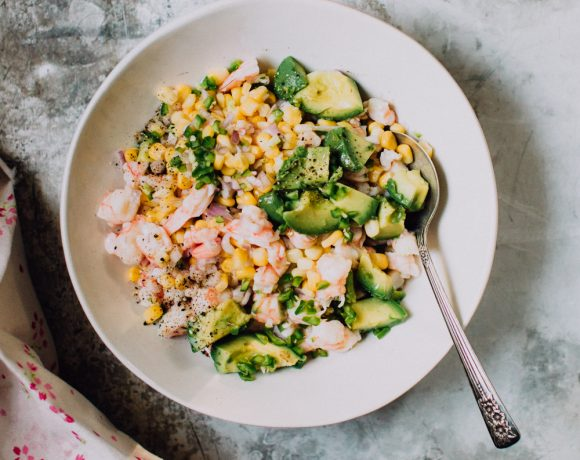 Shrimp Ceviche Recipe with Corn and Avocado | Foodess.com