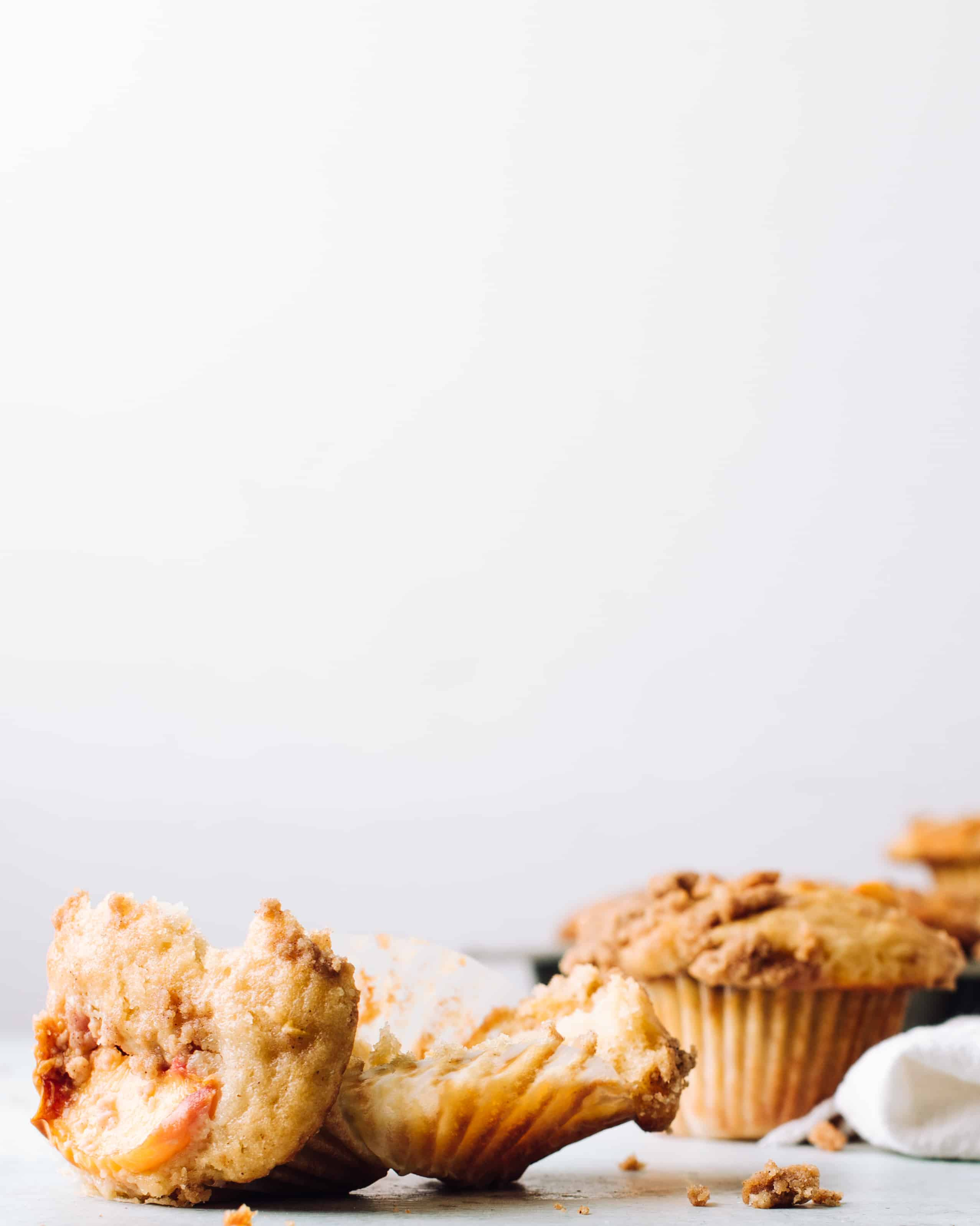 Peach Muffins with Streusel | Foodess Recipes