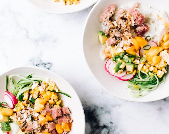 Seared Tuna Poke Bowl | Foodess Recipes
