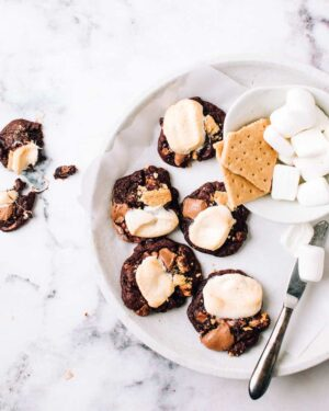 smores cookies on a plate