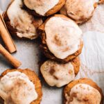 Spiced Soft Molasses Cookies with Icing