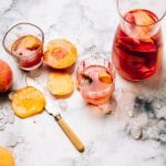 Rosé Sangria with Fresh Peaches