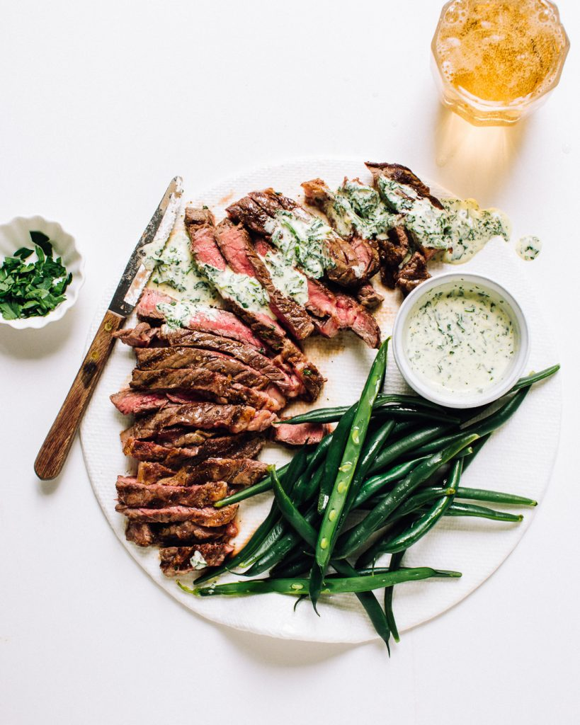 perfectly grilled flat iron steak