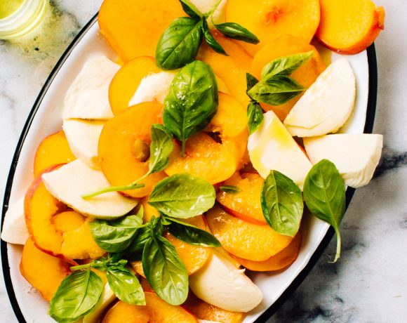 Peach Salad with Mozzarella