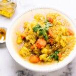 Curried Cauliflower and Quinoa Soup Recipe