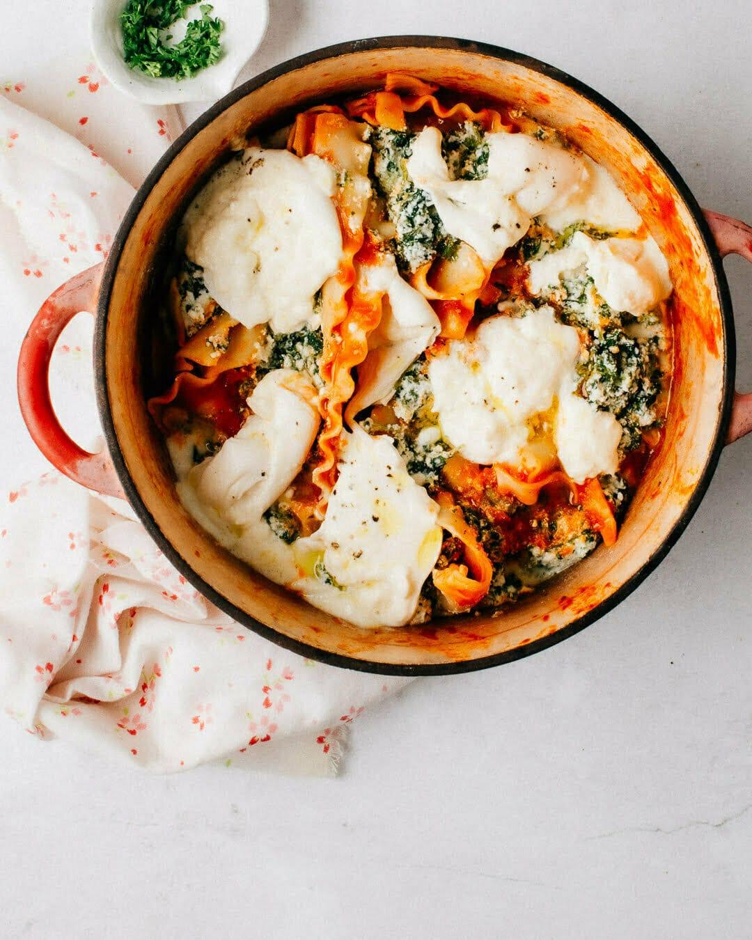 Easy Stovetop Skillet Lasagna Recipe