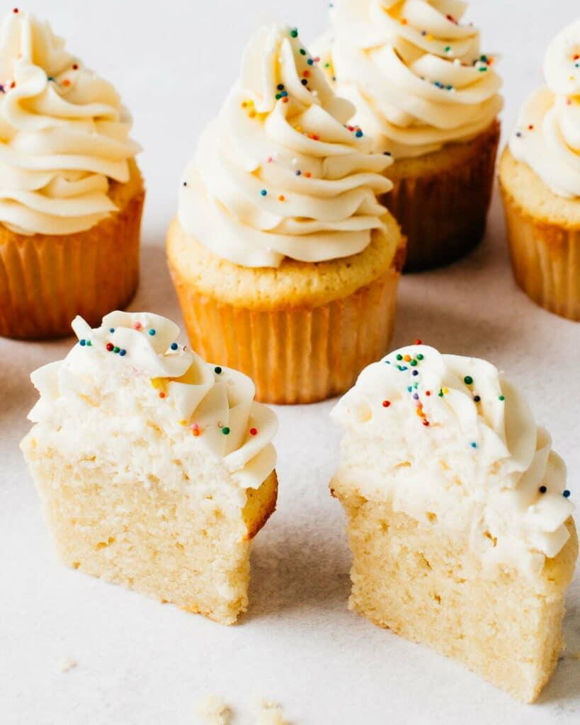 The best moist vanilla cupcake recipe.