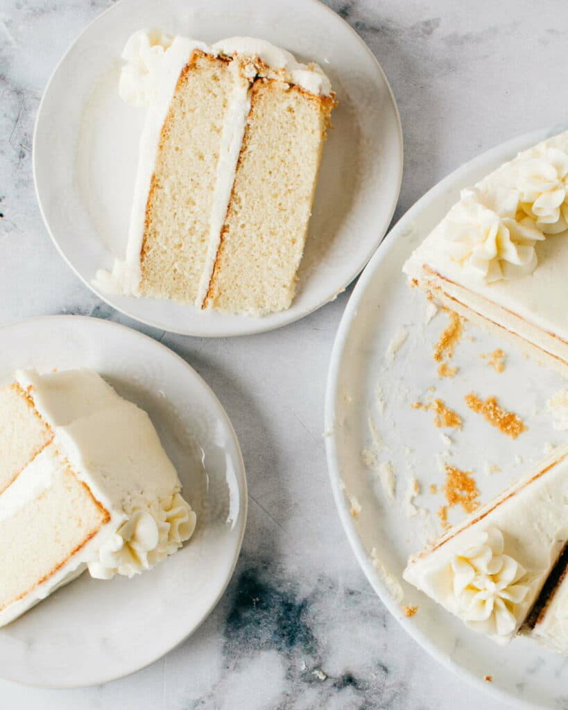 The best vanilla cake recipe ever.