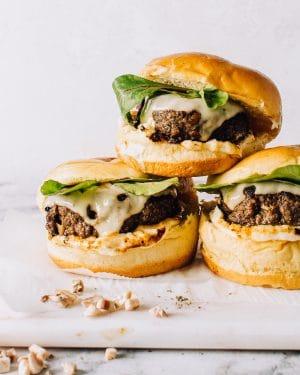 Mushroom Beef Burgers Recipe