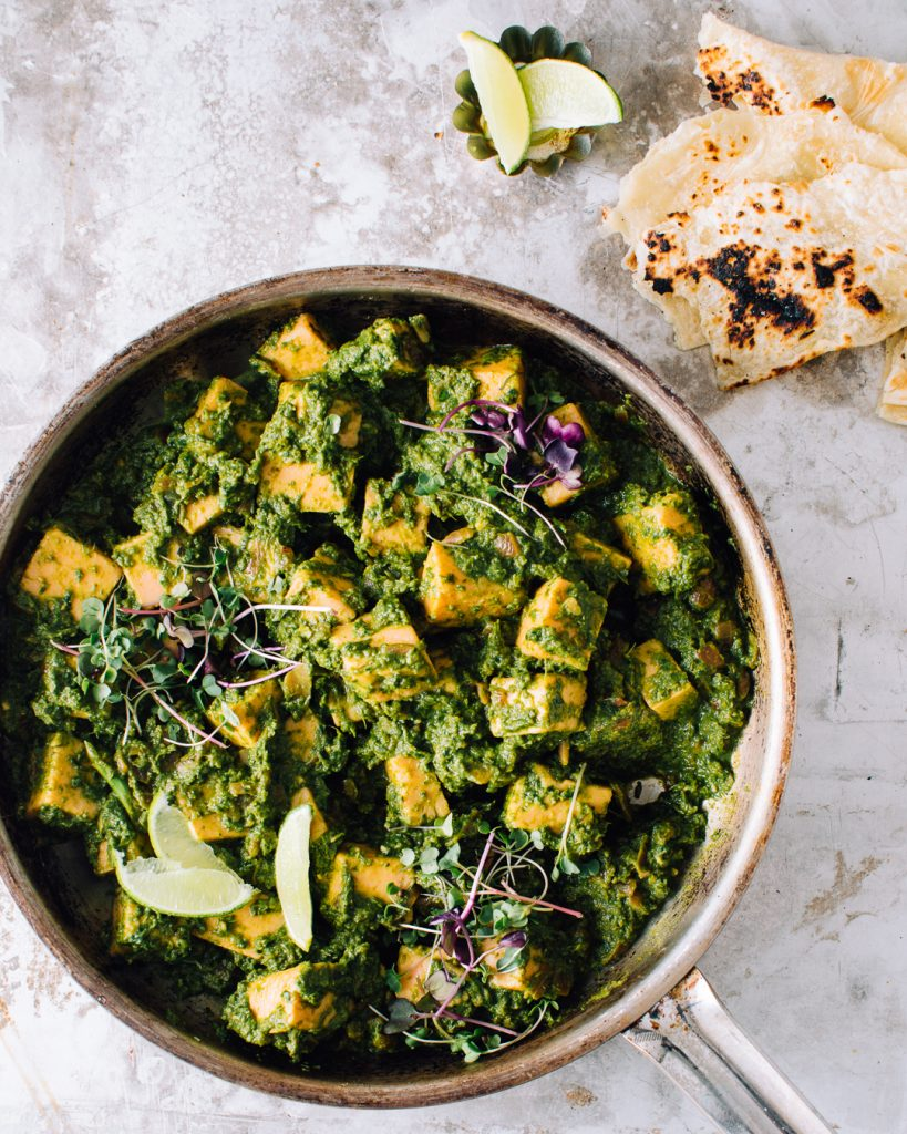 Easy Saag Paneer Spinach Curry recipe