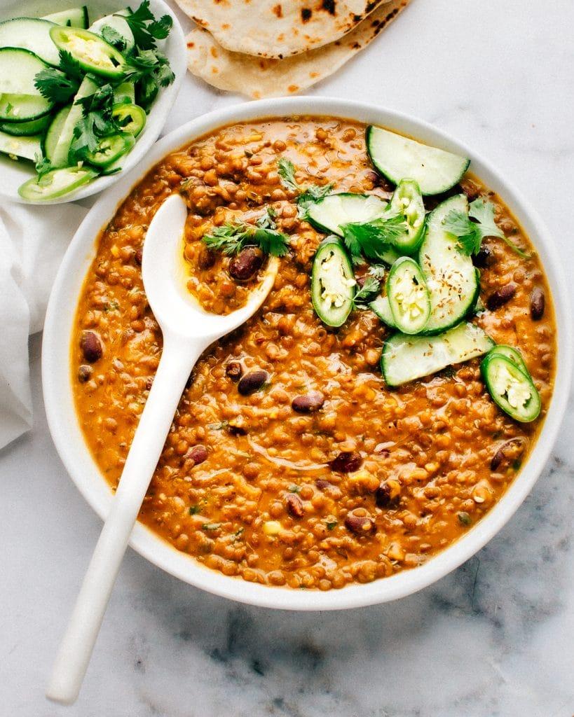 EASY madras lentils curry recipe