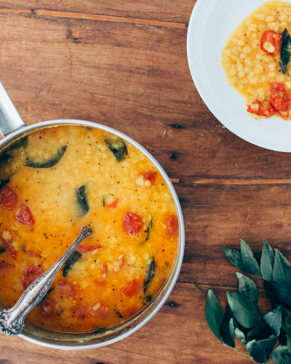 South Indian Red Lentils Masoor Dal Foodess